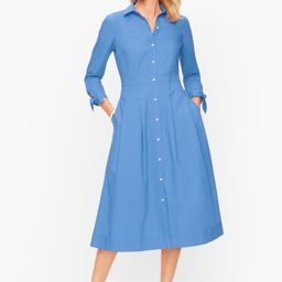 Poplin Shirtdress - Larkspurs Blue - 8 - 100% Cotton Talbots | Talbots