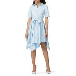 Badgley Mischka Sky Blue Shirt Dress blue | Rent the Runway