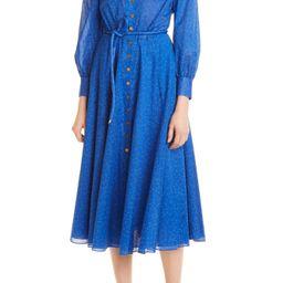 Women's Dyvna Long Sleeve Shirtdress, Size Large - Blue | Nordstrom
