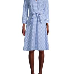 Tommy Hilfiger Women's Thompskin Gingham Shirtdress - Blue White - Size 2 | Saks Fifth Avenue OFF 5TH