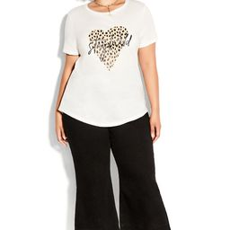 Stay Wild Tee - ivory | City Chic Online