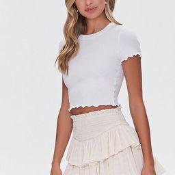 Tiered Ruffle Mini Skirt   Forever 21 (US)