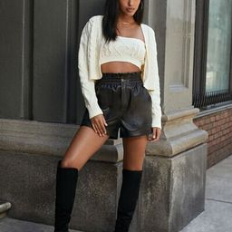 Faux Leather Paperbag Shorts | Forever 21 (US)