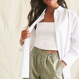 Coated Cuffed Shorts | Forever 21 (US)