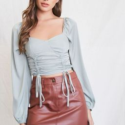 Satin Sweetheart Crop Top | Forever 21 (US)