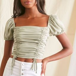 Ruched Puff-Sleeve Top | Forever 21 (US)