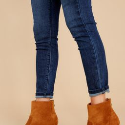 First Steps Camel Ankle Booties Brown | Red Dress