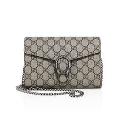 Gucci Dionysus GG Supreme Chain Wallet   Saks Fifth Avenue