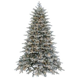 Pre-Lit Flocked Vermont Spruce Artificial Christmas Tree - 7.5ft   Pottery Barn (US)