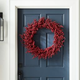 Faux Red Berry Wreath   Pottery Barn (US)