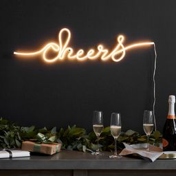 Light Up Cheers Sign   Pottery Barn (US)