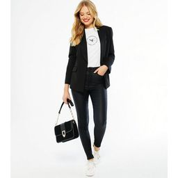 Black Leather-Look 'Lift & Shape' Jenna Skinny Jeans  Add to Saved Items Remove...   New Look (UK)
