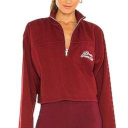 REVOLVE TENNIS CLUB Half Zip Sweatshirt in Maroon from Revolve.com | Revolve Clothing (Global)