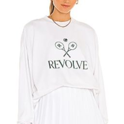 REVOLVE TENNIS CLUB Oversized Sweatshirt in White from Revolve.com | Revolve Clothing (Global)
