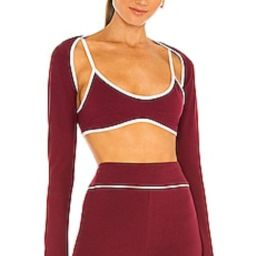 REVOLVE TENNIS CLUB Twofer Top in Maroon from Revolve.com | Revolve Clothing (Global)