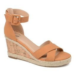 Journee Collection Telyn Women's Espadrille Wedge Sandals, Size: 5.5, Brown   Kohl's