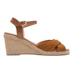 Andre Assous Women's Sandals CUERO - Brown Crisscross Ellie Suede Espadrille Wedge Sandal - Women   Zulily