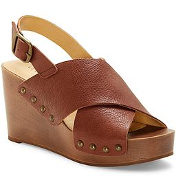 Lucky Brand Zelka Wedge Sandal - Women's - Dark Brown Leather   DSW