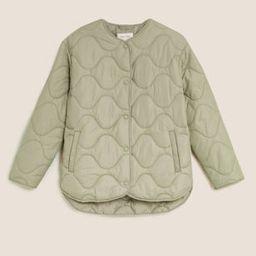 Padded Collarless Puffer Jacket | Marks & Spencer (UK)