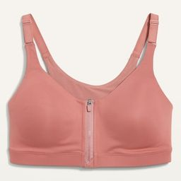 High-Support PowerSoft Zip-Front Sports Bra for Women   Old Navy (US)