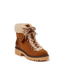 Time and Tru Women's Cozy Hiker Boot (Wide Width Available) - Walmart.com   Walmart (US)