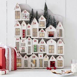 Light Up Glitter Houses Advent Calendar   Pottery Barn (US)