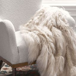 Mongolian Patchwork Faux Fur Throw | Pottery Barn (US)