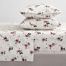 Disney Mickey Mouse Holiday Organic Cotton Sheet Set | Pottery Barn (US)