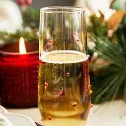 Monique Lhuillier Festive Dot Stemless Champagne Flutes - Set of 4 | Pottery Barn (US)
