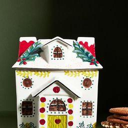 Nathalie Lete Holiday House Cookie Jar | Anthropologie (US)