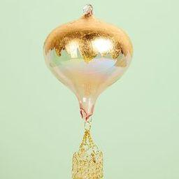 Gold Leaf Hot Air Balloon Ornament | Anthropologie (US)