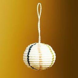 Woven Raffia Bauble Ornament | Anthropologie (US)