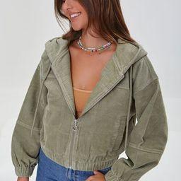 Hooded Zip-Up Corduroy Jacket | Forever 21 (US)