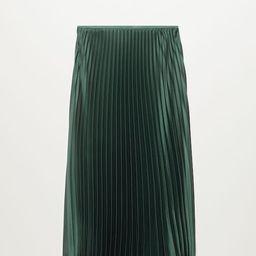 Satin pleated skirt   MANGO (US)