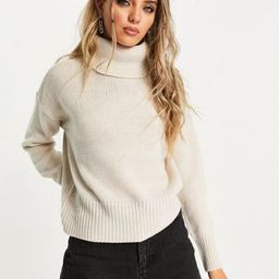 Only roll neck jumper in taupe   ASOS (Global)