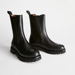 Chunky Sole Leather Chelsea Boots | & Other Stories