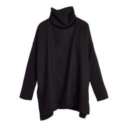 Baby Alpaca Oversized Turtleneck Sweater, Black Turtleneck, Poncho Sweater, Fall Outfits Women | Cuyana
