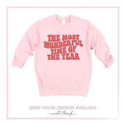 Christmas Sweatshirt The Most Wonderful Time Of The Year   Etsy   Etsy (US)