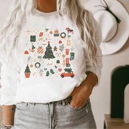Christmas Sweatshirt Holiday Sweatshirt Little Things   Etsy   Etsy (US)