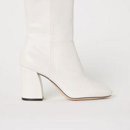 H & M - Boots with Zip - Beige   H&M (US)