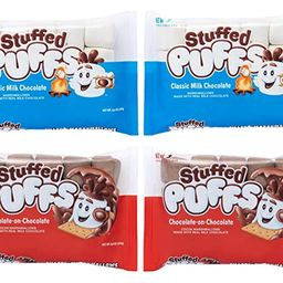 Stuffed Puffs - Variety 4 Pack, Marshmallows Made with Real Chocolate, Perfect for Hot Cocoa and ... | Amazon (US)