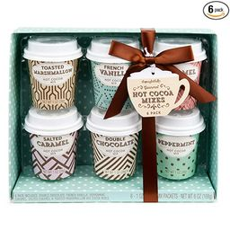 Thoughtfully Gifts, Mini Hot Chocolate Gift Set, Flavors Includes Caramel, Toasted Marshmallow, F... | Amazon (US)