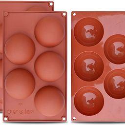 homEdge Extra Large 5-Cavity Chocolate Bomb Mold, 3 Packs Semi Sphere Baking Mold for Making Choc... | Amazon (US)