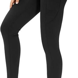 THE GYM PEOPLE Thick High Waist Yoga Pants with Pockets, Tummy Control Workout Running Yoga Leggi...   Amazon (US)