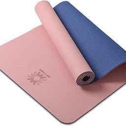 Yoga Mat Extra Thick 1/4 & 1/3 Inch Non Slip Yoga Mats for Women & Men,Eco Friendly TPE Fitness E...   Amazon (US)