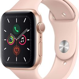 Apple Watch Series 5 (GPS, 40MM) - Gold Aluminum Case with Pink Sand Sport Band (Renewed)   Amazon (US)