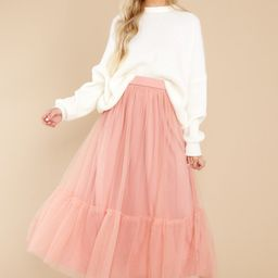 Go With The Flow Mauve Pink Skirt   Red Dress