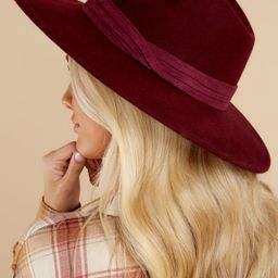 Profiles Well Burgundy Hat   Red Dress