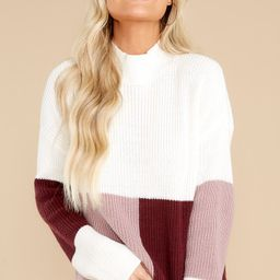 Simple Days Mauve Wine Colorblock Sweater   Red Dress