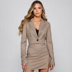 Preppy Chic Plaid Cropped Blazer | Windsor Stores